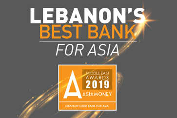 Fransabank Wins Lebanon's Best Bank for Asia in the 2019 Asiamoney Middle East Best Banks for Asia Awards